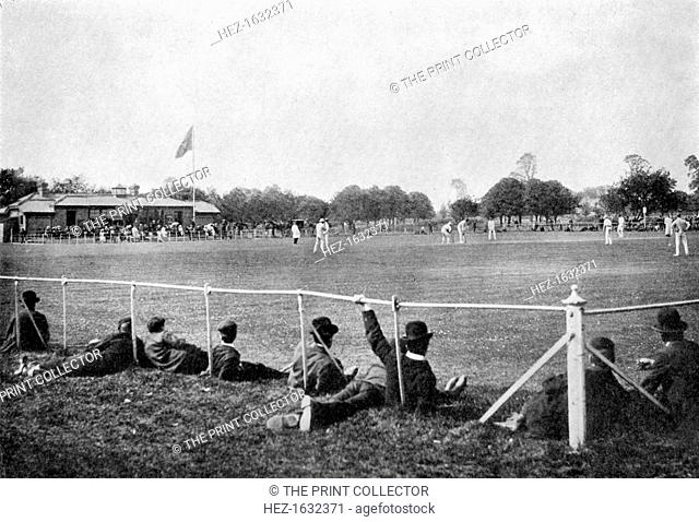 The Phoenix Park cricket ground, Dublin, 1912. From Imperial Cricket, edited by P F Warner and published by The London and Counties Press Association Ltd...