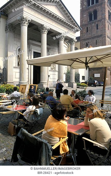 Turin Torino Piemonte Piedmont Italy Piazza Consolata coffee shop and restaurant