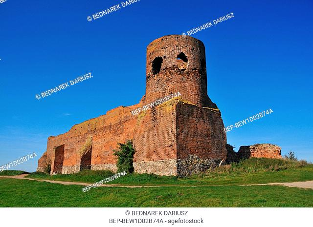 Ruins of medieval castle. Kolo, Greater Poland Voivodeship, Poland