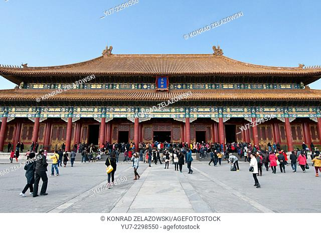 Hall of Supreme Harmony (Taihedian) in Forbidden City, Beijing, China