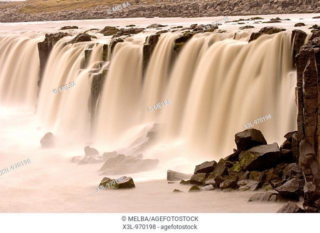 Selfoss waterfall  Jokulsargljufur National Park  Iceland