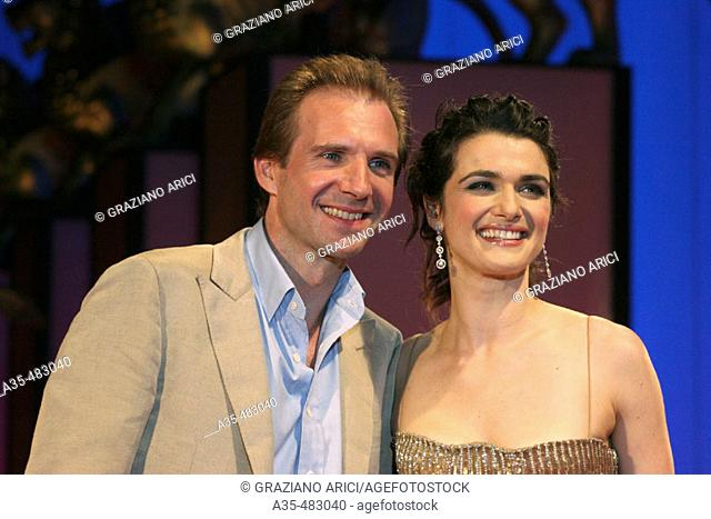 62nd Venice Film 'Festival (04/09/05): Film 'The Constant Gardener'- Premiere/Red Carpet - Actors Rachel Weisz and Ralph Fiennes