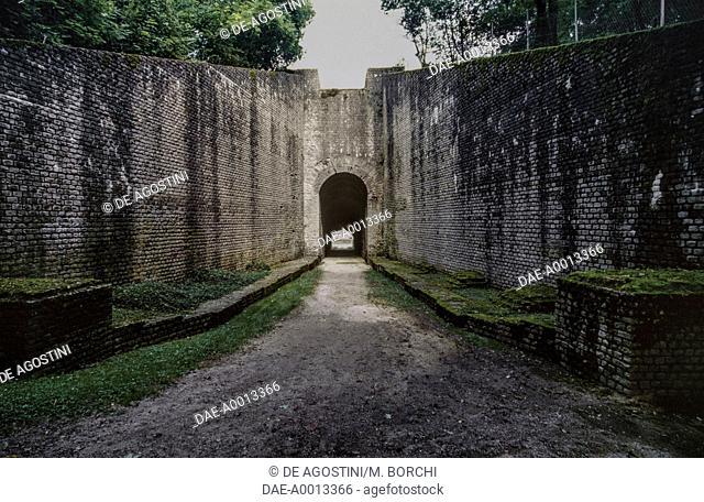 Trier Amphitheatre tribune entrance, Augusta Treverorum (UNESCO World Heritage Site, 1986), Rhineland-Palatinate, Germany