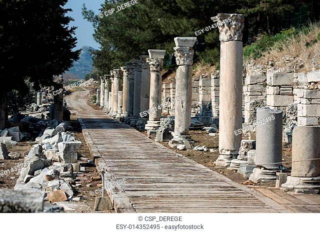 ruins columns street