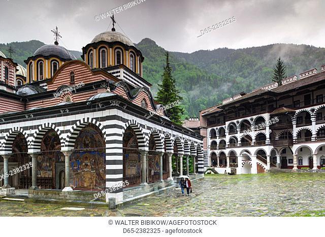 Bulgaria, Southern Mountains, Rila, Rila Monastery, exterior