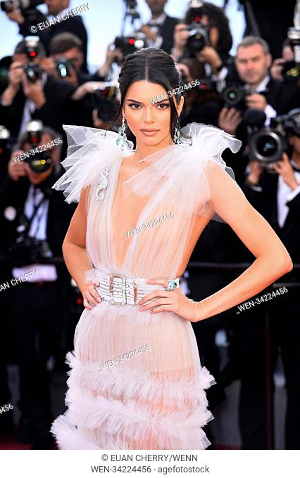71st annual Cannes Film Festival - Time's Up Protest Featuring: Kendall Jenner Where: Cannes, France When: 12 May 2018 Credit: Euan Cherry/WENN