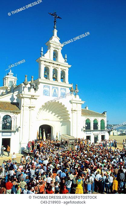 Church of El Rocío. Huelva province. Andalusia. Spain