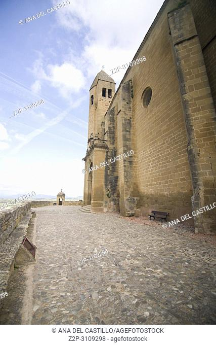 San Vicente de la Sonsierra in La Rioja. Spain Church at the castle