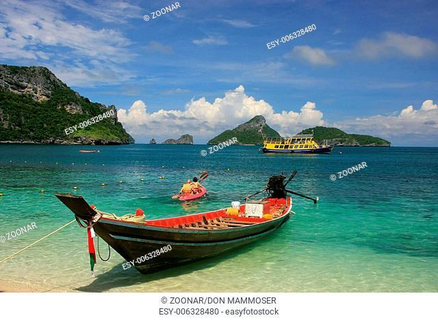 Longtail boat at Mae Koh island, Ang Thong Nationa