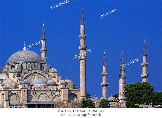 Turkey, Istanbul, Süleymaniye Mosque