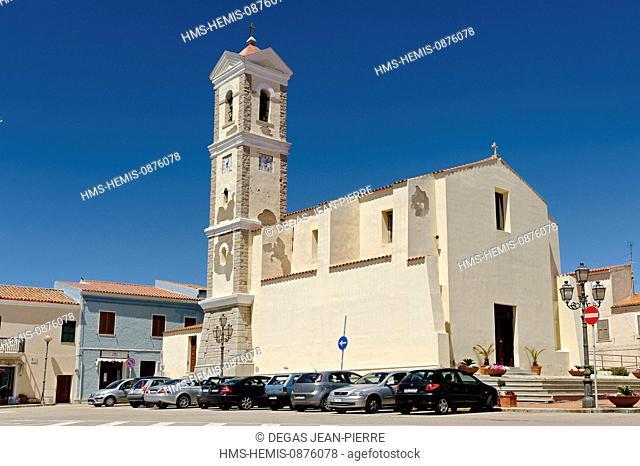 Italy, Sardinia, Olbia Tempio Province, Santa Teresa Gallura, Piazza San Vittorio, Santa Teresa Parish