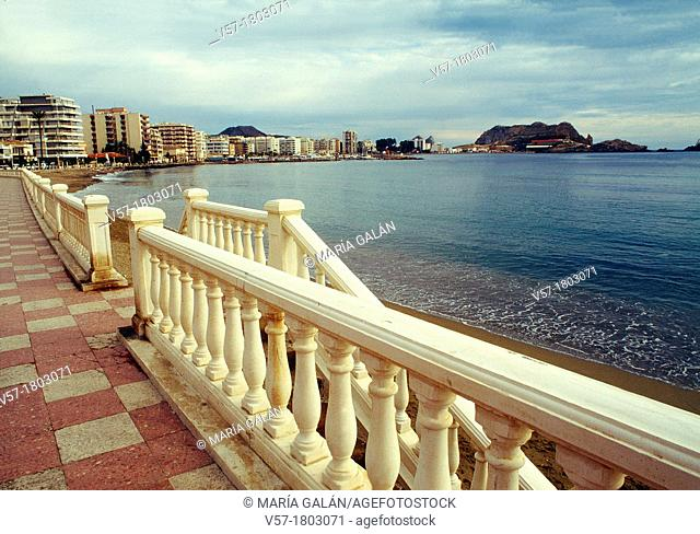 Promenade and beach. Aguilas, Murcia province, Spain