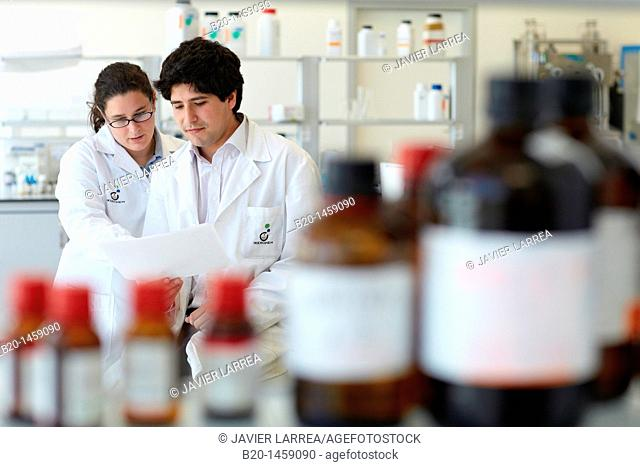 Synthesis lab, research laboratory, IkerChem research lab, design and synthesis of new chemical entities with therapeutic applications in oncology