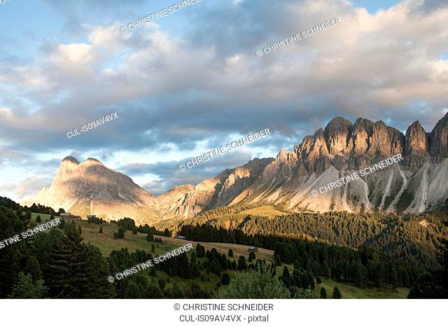 View of Langkofel and Geislerspitzen, Brixen, Dolomites, Austria