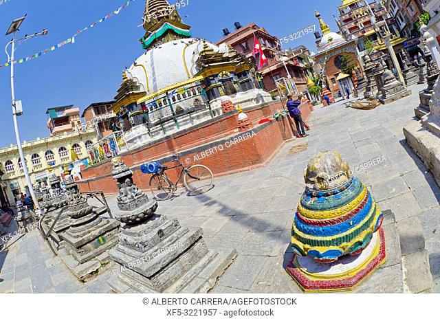 Shree Gha Buddhist Stupa, Kathesimbu Stupa, Thamel Tourist Area, Kathmandu, Nepal, Asia