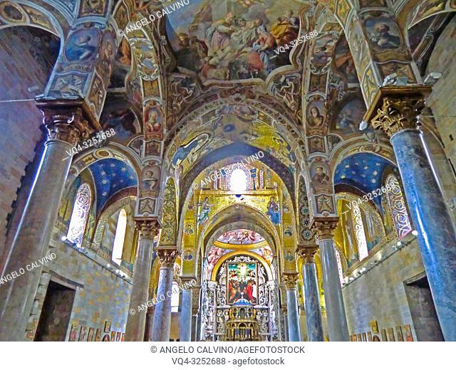 Church Santa Maria dell'Ammiraglio detta la Martorana, Italy, Sicily, Palermo