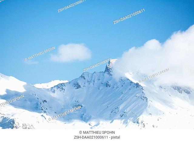 Switzerland, mountain peak