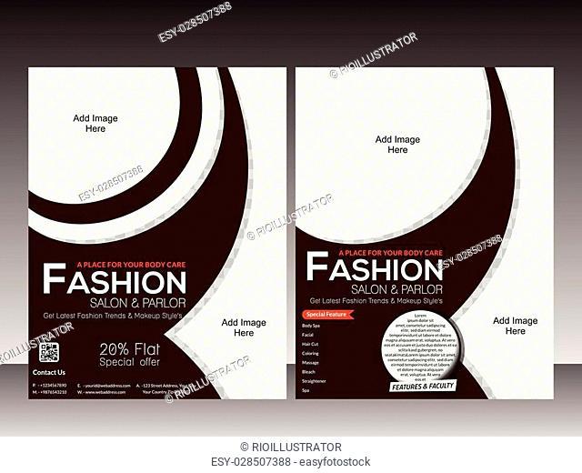 fashion flyer template design vector illustration