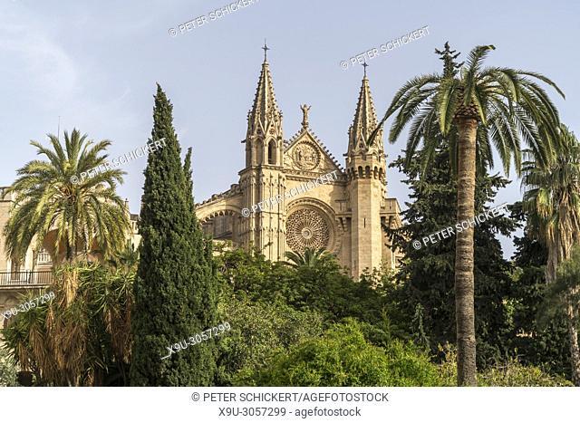 cathedral La Seu, Palma de Mallorca, Majorca, Balearic Islands, Spain,