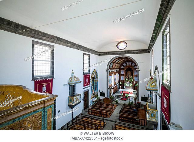 Portugal, Azores, Faial Island, Horta, Igreja de Nossa Senhora das Angustias, interior