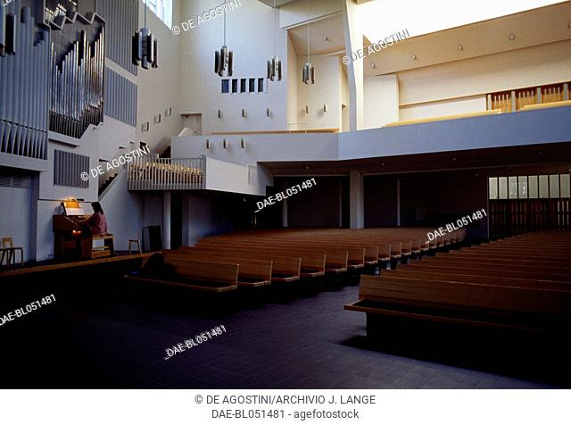 Interior of the Church of the Cross, designed by Alvar Aalto (1898-1976), Lahti, Finland, 20th century