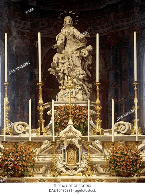 Our Lady of Loreto, sculpture by Francesco Maria Schiaffino (1689-1765). Santa Maria di Nazareth Church, Sestri Levante. Italy, 18th century