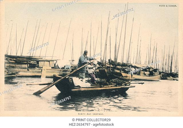'Boats and Sampans', c1910. Artist: Unknown