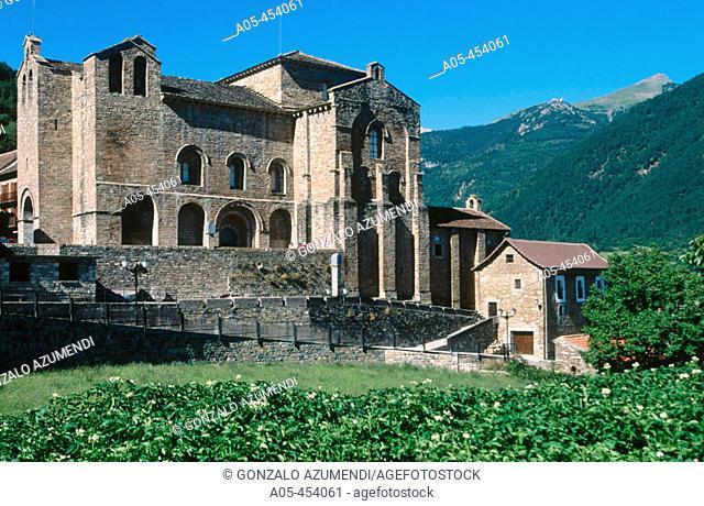 San Pedro de Siresa monastery (IX-Xith centuries)  in Valle de Hecho. Huesca province. Aragon, Spain