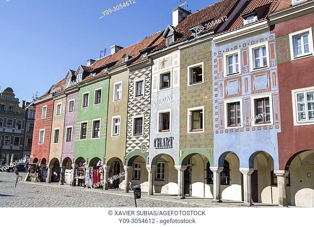Houses, Old Market Square, Poznan, Poland