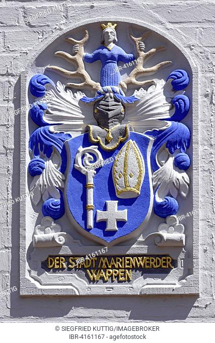 Coat of arms on the Town Hall wall, Celle, Lower Saxony, Germany