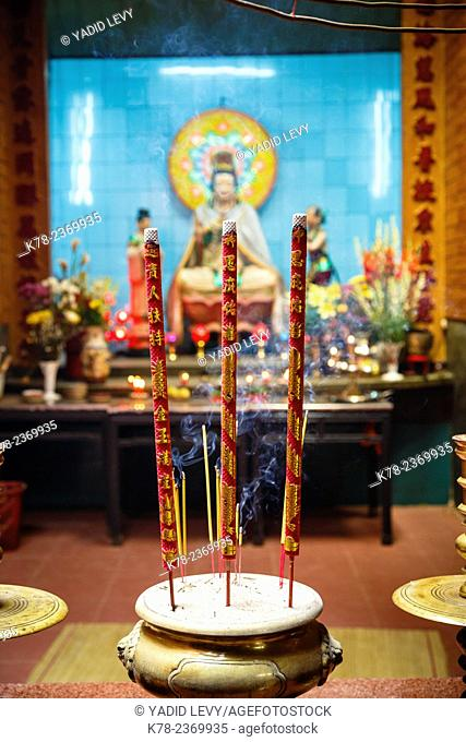 Incense sticks at Ong Temple, Can Tho, Mekong Delta, Vietnam