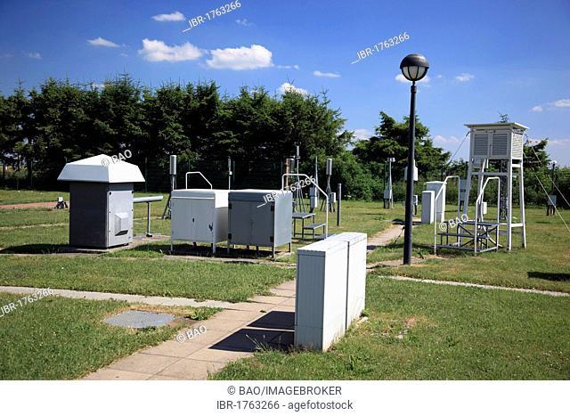 Weather station of the German Weather Service, Mt. Wasserkuppe, Rhoen, Hesse, Germany, Europe