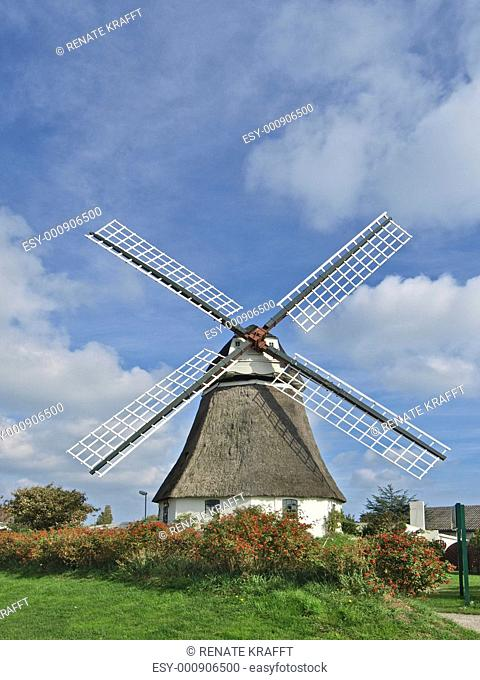 Windmill in Wrixum, Föhr, Schleswig Holstein, Germany, Europe