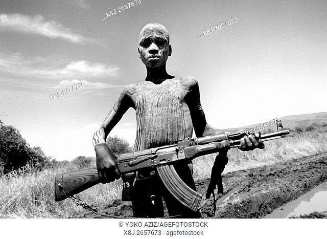 ethiopia, mursi tribe, mago national park