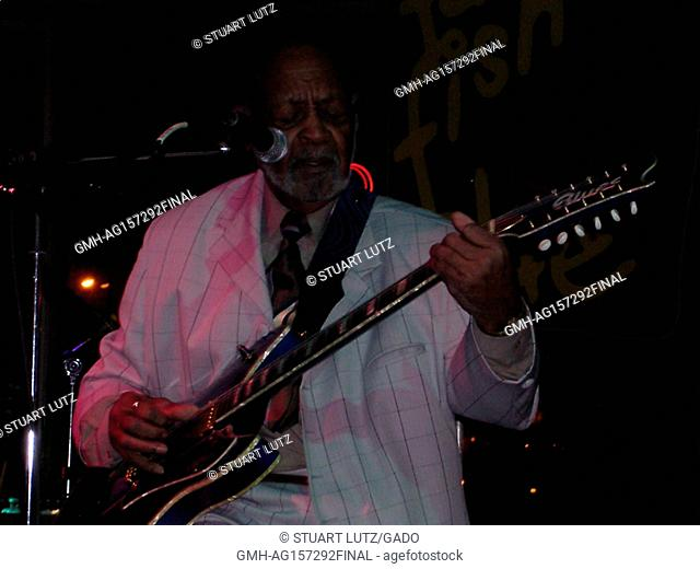 Blues musician Robert Lockwood Jr, was the last living person to have played with the legendary Robert Johnson, performing on stage in Cleveland, Ohio, 2004