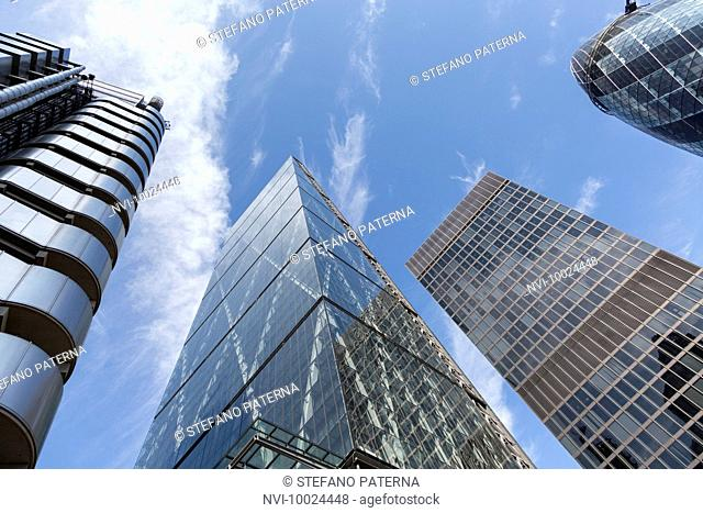 Skyscrapers in the financial district of the City of London, United Kingdom