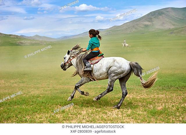 Mongolia, Bayankhongor province, Naadam, traditional festival, horse racing