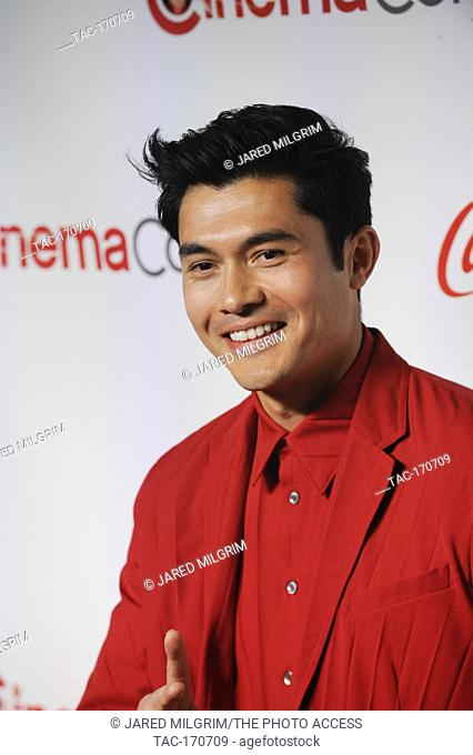Actor Henry Golding arrives for the 2019 CinemaCon Big Screen Achievement Awards at Omia nightclub at Caesars Palace in Las Vegas on April 4, 2019