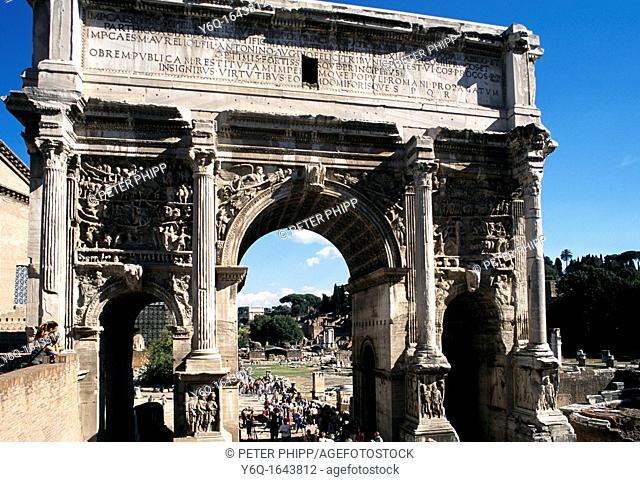 The Arch of San Severus Forum Rome