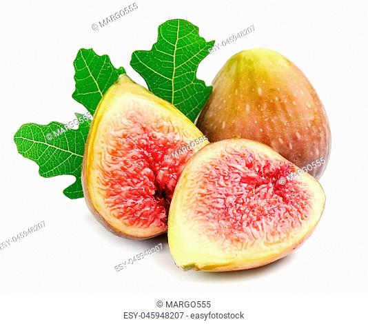 Fresh figs fruits isolated on white backgrounds