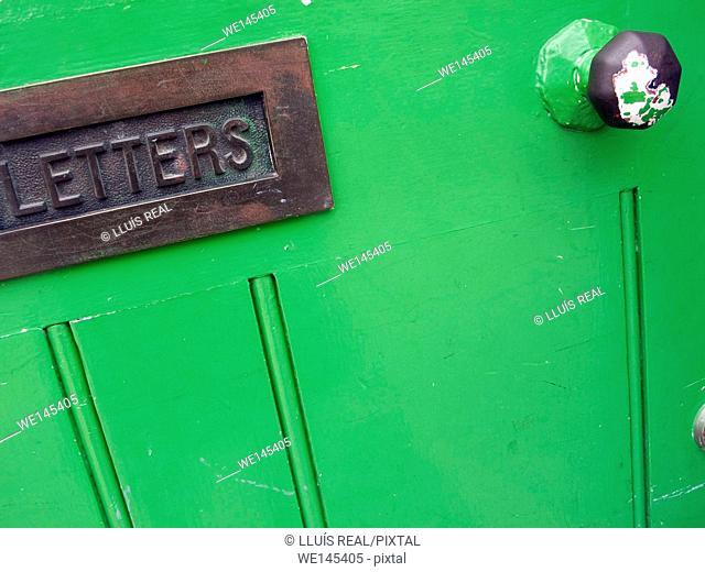 Door  with mailbox
