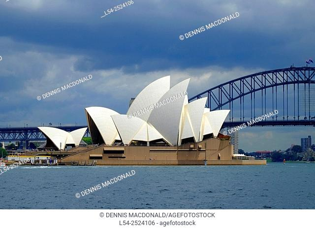 Sydney Opera House Harbour Bridge Australia New South Wales AU