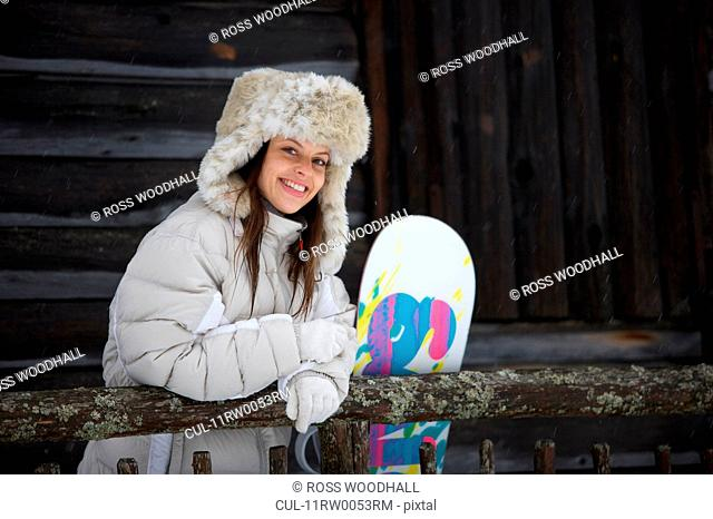 Portrait of a woman in ski gear