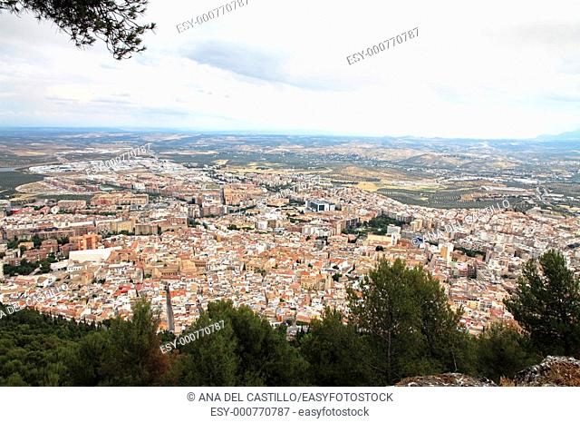 Jaen as seen from Santa Catalina's castle  Andalusia, Spain