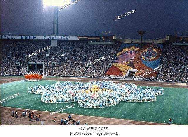 Closing ceremony of the Moscow's olympic games. Closing ceremony of the Moscow's olympic games, held in Moscow from July 19 to August 3, 1980