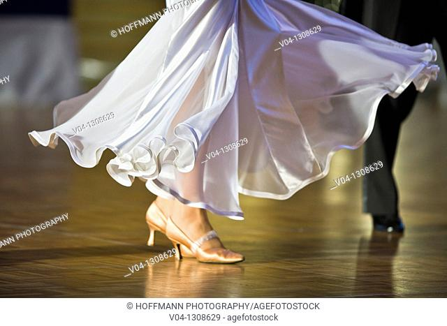 A female dancer doing ballroom dancing