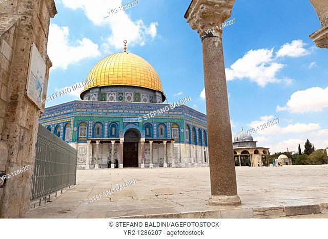 The Dome of the rock,temple mount, east Jerusalem, Palestine