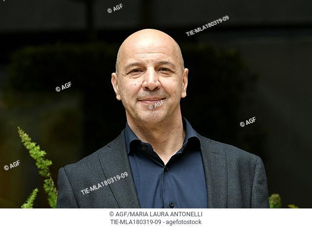 Aldo Baglio during 'Scappo a casa' film photocall, Rome, Italy 18/03/2019