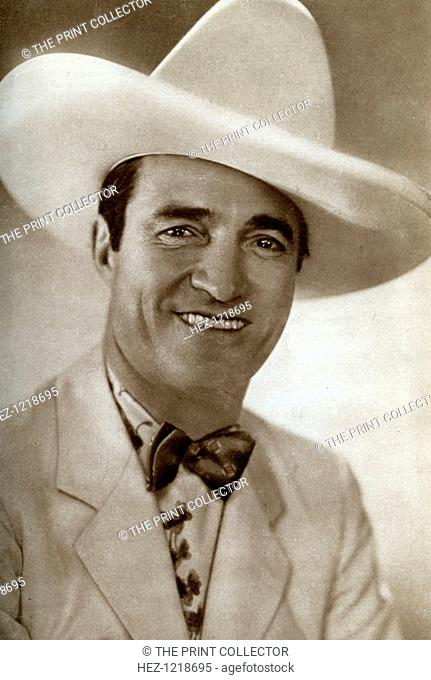 Tom Mix, American film actor, 1933. Mix (1880-1940) was the star of many early Western films. He made a reported 336 features between 1910 and 1935