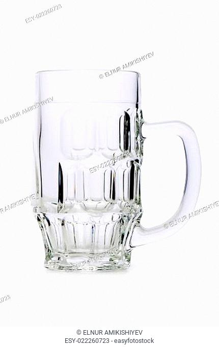 Beer glasses isolated on the white background